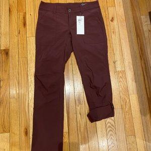 Columbia Burgundy Convertible pants 8